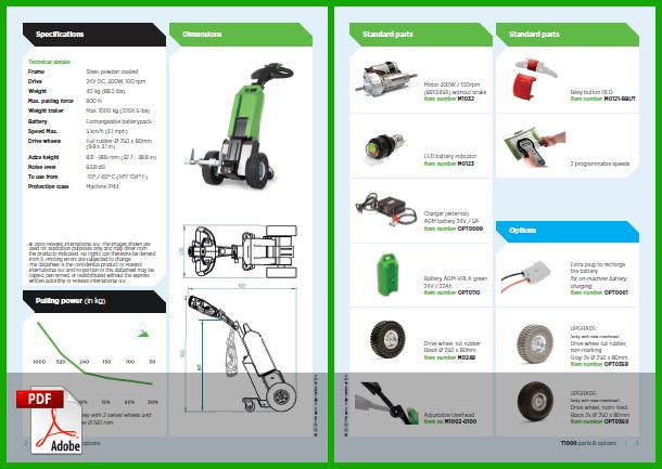 Náhled pdf technické specifikace tahačů movexx, obsahuje technická data, základní a doplňkovou výbavu a seznam náhradních dílů
