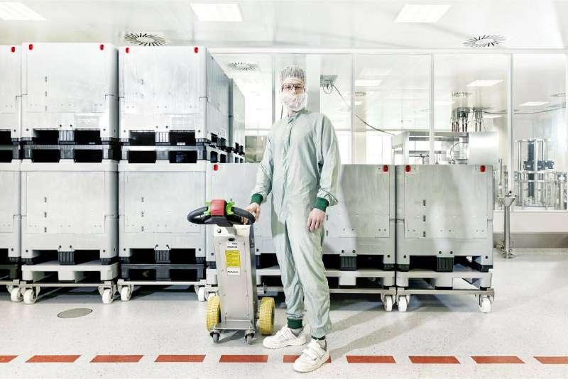 elektrický ručně vedený tahač t1000-cleanroom je vhodný pro farmaceutický průmysl