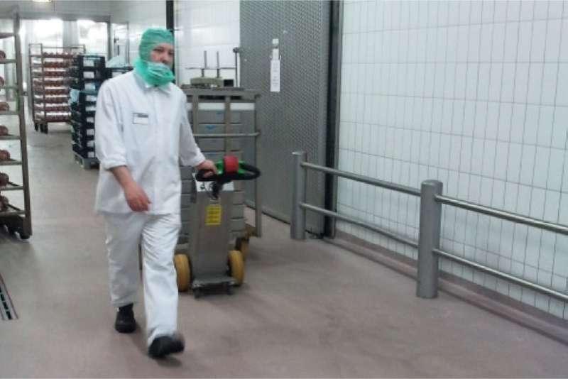 elektrický ručně vedený tahač t1000-cleanroom je vhodný pro potravinářský průmysl