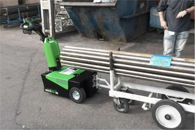 elektrický ručně vedený tahač t1000-d, manipulace přepravního vozíku s konzolemi