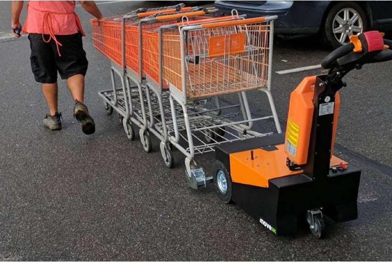manipulace nakupnich voziku supermarkety rucne vedeny elektricky tahac t1500