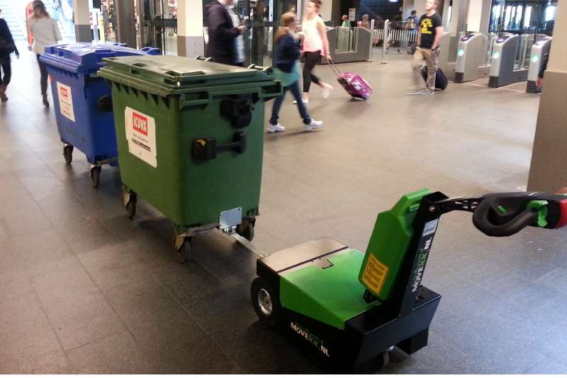manipulace odpadkovych kontejneru rucne vedeny elektricky tahac t1500