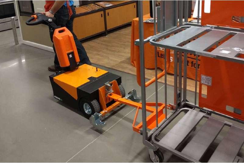 manipulace prepravnich voziku rucne vedeny elektricky tahac t1500