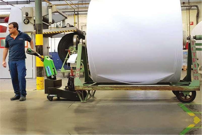 manipulace prepravnik podvozek civka textilni vlakno rucne vedeny elektricky tahac t2500