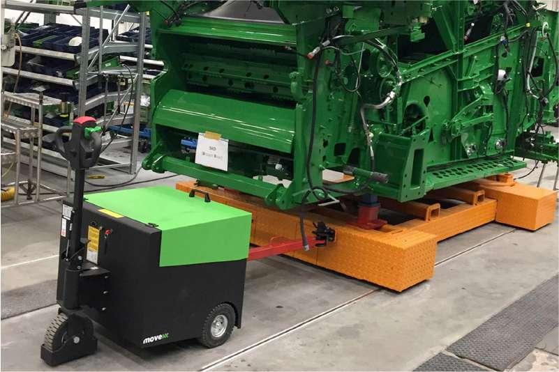 elektrický ručně vedený tahač t6000 přeprava těžkého zařízení ve výrobě