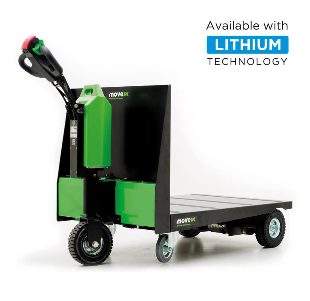 elektrický ručně vedený plošinový vozík P300 800x1200 se snadno vyměnitelnou lithiovou baterií, úvodní foto