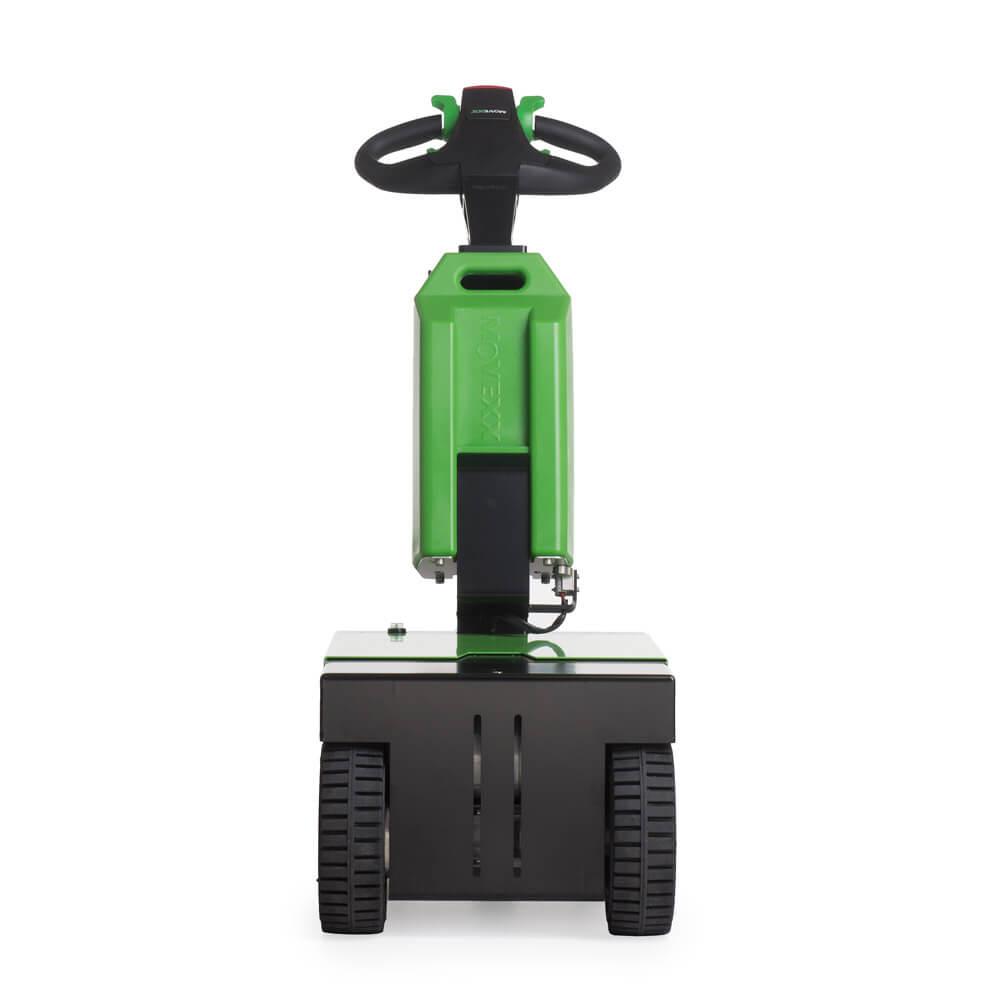 elektrický ručně vedený tahač t1000-d má 3 kola a snadno vyměnitelnou baterii, foto zepředu