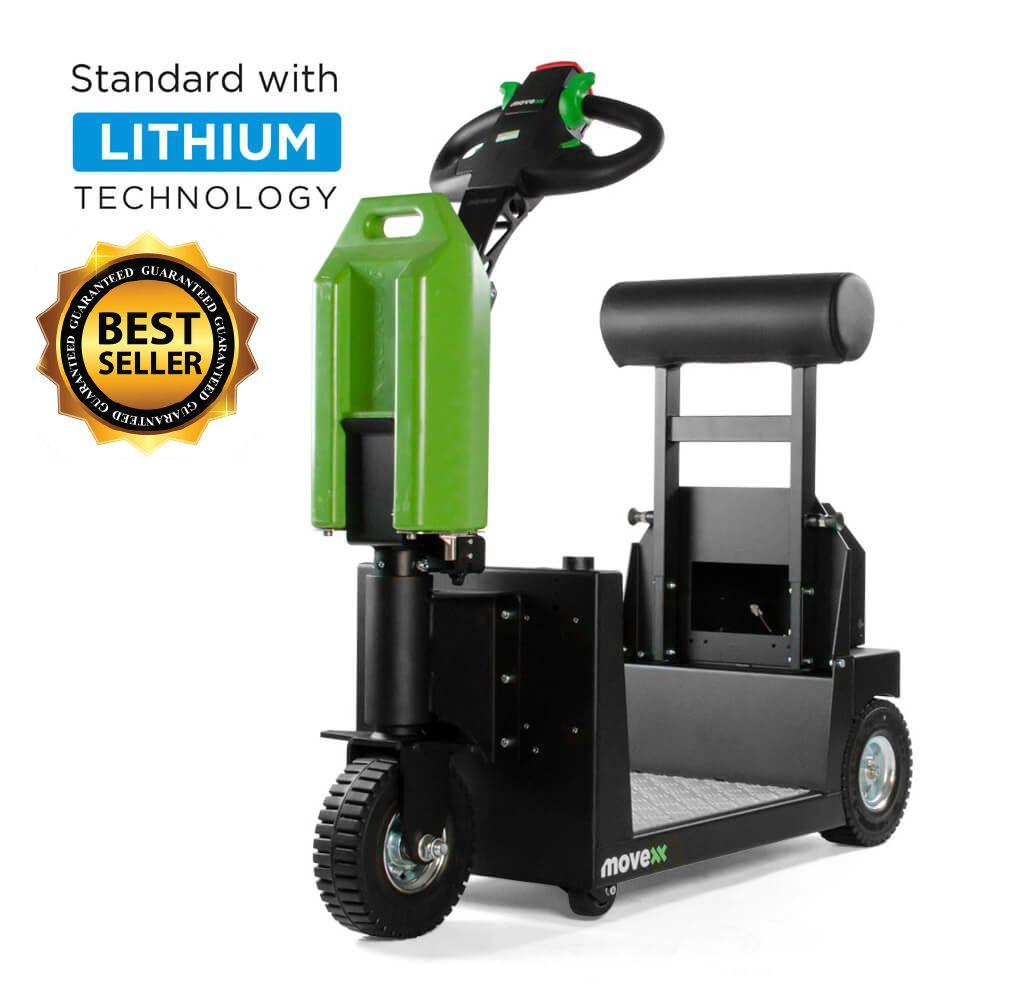 elektrický tahač t1000-platform s plošinou pro stojícího řidiče a s lehce vyměnitelnou baterií patří k nejprodávanějším tahačům, úvodní foto