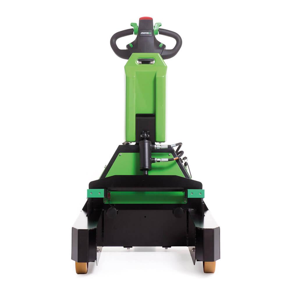 ručně vedený elektrický tahač t1000-rz s elektrickým zdvihem vidlic a snadno vyměnitelnou baterií, foto zepředu