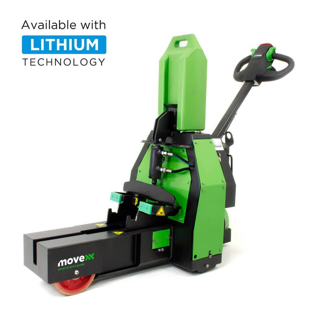 elektrický ručně vedený tahač t1500-rzs má elektrický zdvih a vyměnitelnou lithiovou baterii, úvodní foto