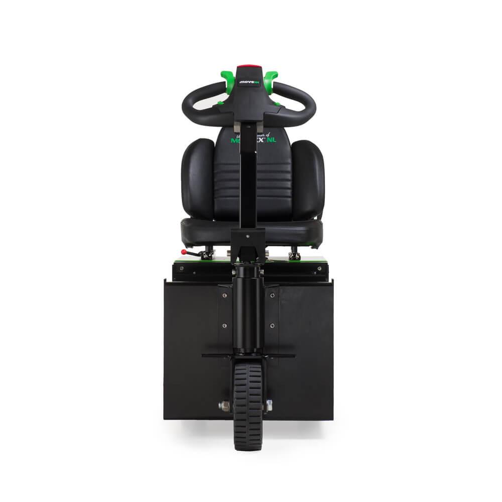 elektrický tahač t2500-scooter pro sedící obsluhu s vestavěnou baterií a pohodlnou sedačkou pro řidiče, foto zepředu