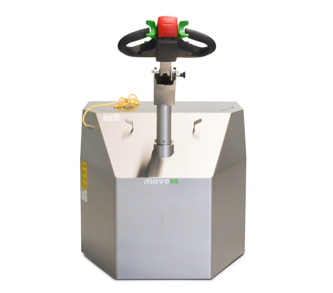 elektrický ručně vedený tahač t6000-cleanroom je novinka 2021 a utáhne až 6 tun nákladu, foto zezadu