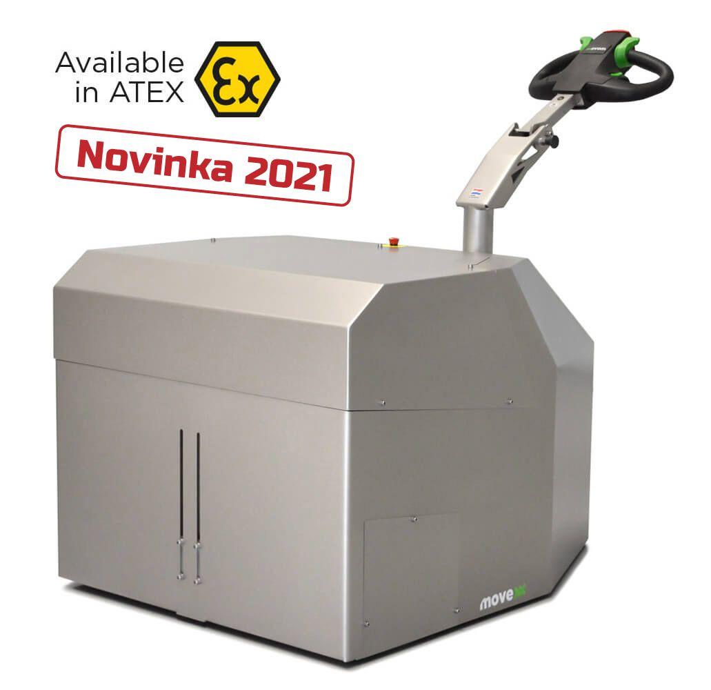 elektrický ručně vedený tahač t6000-cleanroom je nový model roku 2021 a může být použit v prostředí s nebezpečím výbuchu atex, úvodní foto