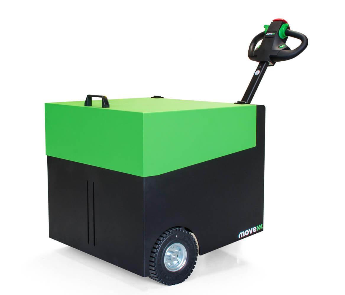 elektrický ručně vedený tahač t6000 utáhne až 6 tun nákladu na kolečkách, úvodní foto