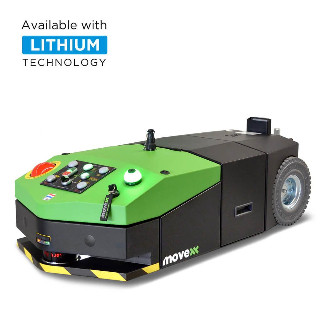elektrický automaticky vedený tahač agv-basic s snadno vyměnitelnou baterií a optickou navigací, úvodní foto