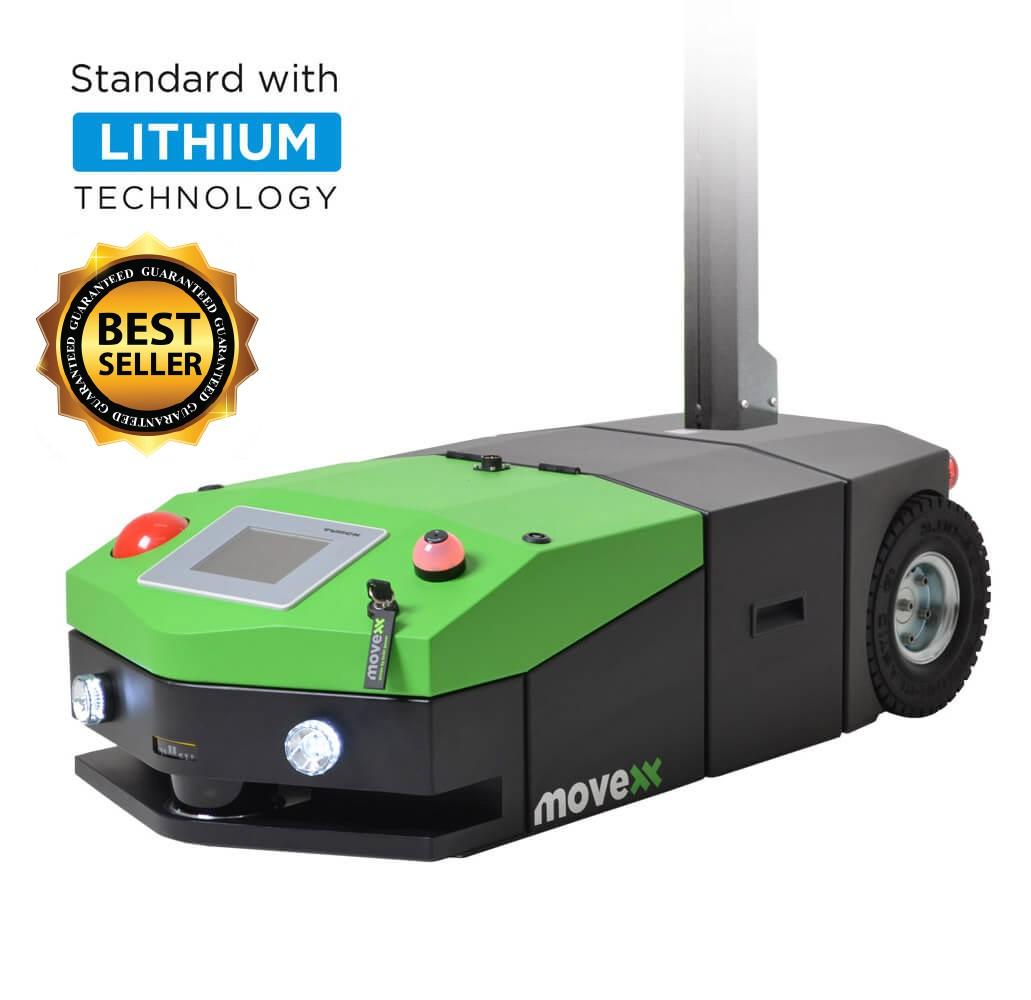 elektrický automaticky vedený tahač agv1000 umí automatické připojení/odpojení nákladu, má dotykový displej, můžete ho ovládat telefonem a je to bestseller, úvodní foto