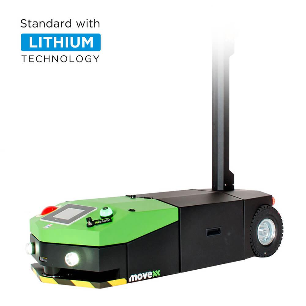 elektrický automaticky vedený tahač agv2500 s dotykovým displejem a lehce vyměnitelnou baterií, úvodní foto