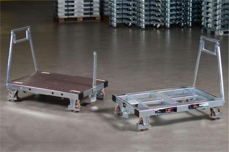 plošinový paletový vozík pallet size dolly od k.hartwall ve skladu