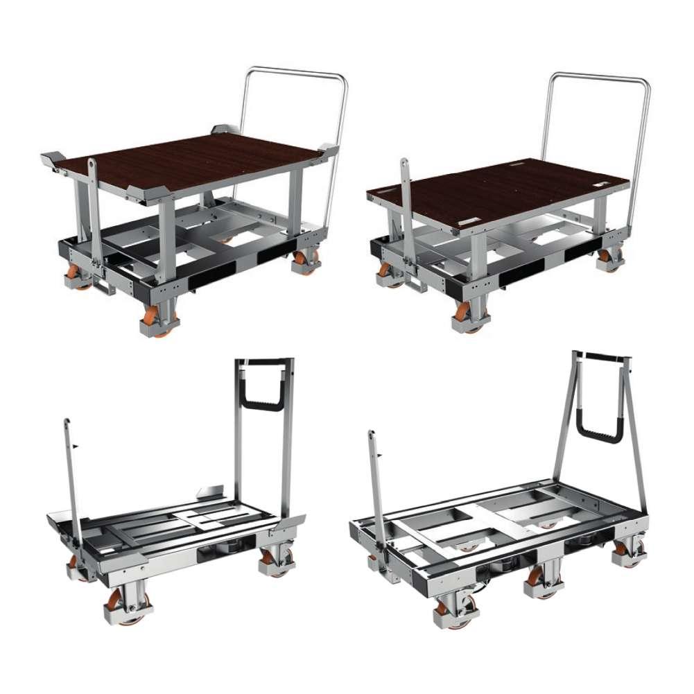 plošinový přepravní vozík na palety pallet size dolly k.hartwall