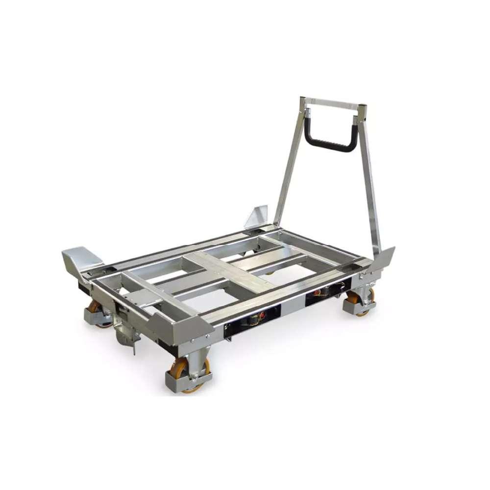 plošinový vozík s rohovými zarážkami pallet size dolly od k.hartwall