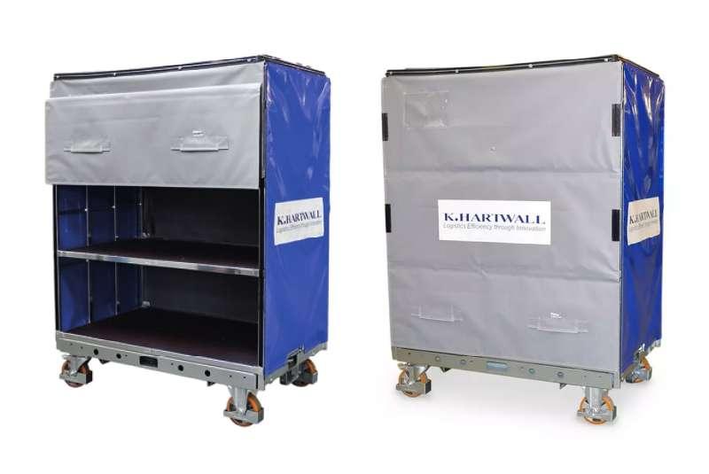 policové přepravní vozíky shelf wagon s ochranným krytem od k.hartwall