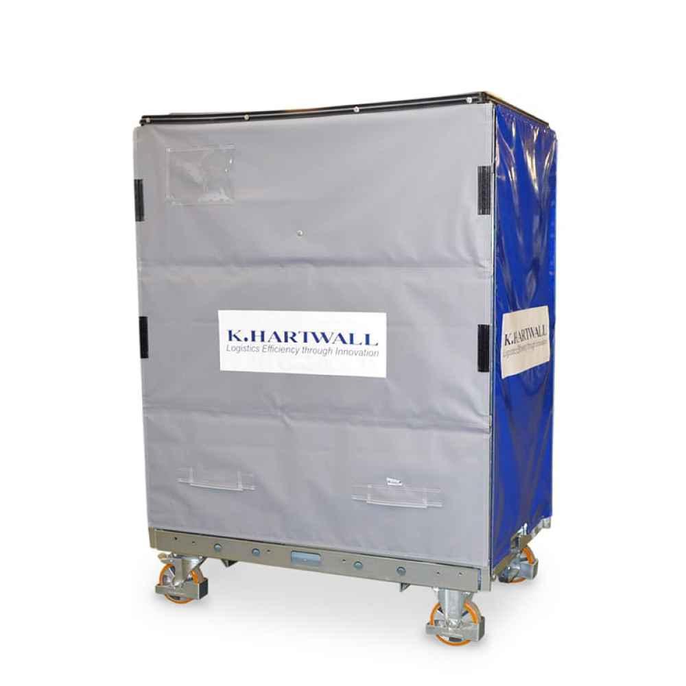 policový vozík s ochranným krytem shelf wagon od k.hartwall