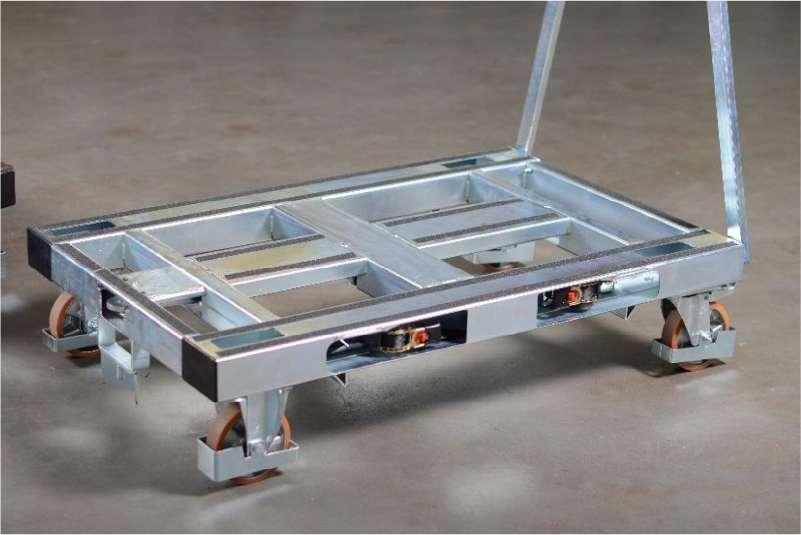 plošinový vozík pallet size dolly ve skladu
