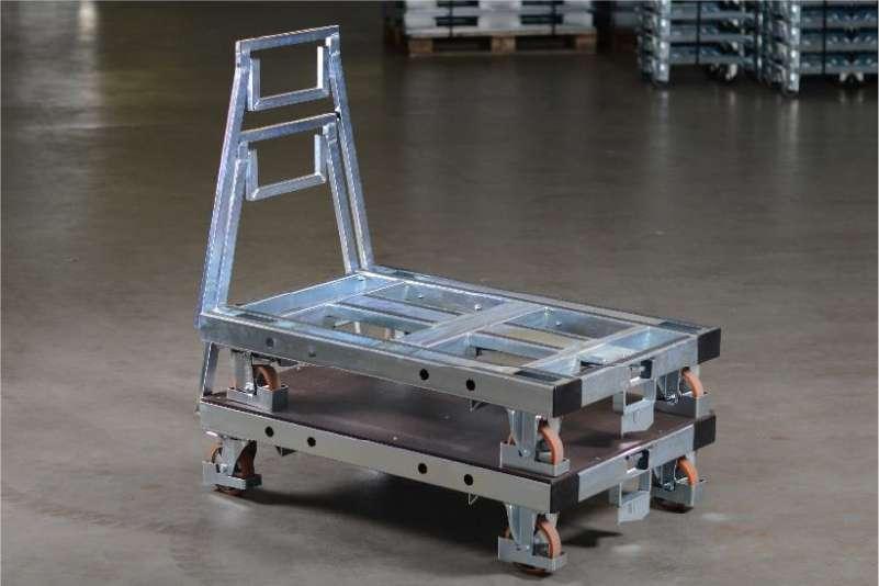 plošinové vozíky pallet size dolly od k.hartwall ve skladu