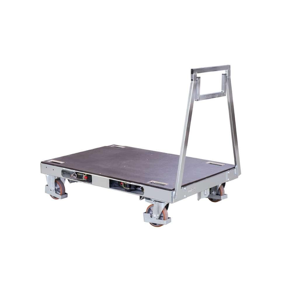 plošinový vozík s překližkovou deskou pallet size dolly od k.hartwall