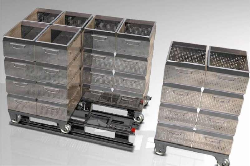 paletový adaptér pro manipulaci a uskladnění přepravních vozíků dolly od k.hartwall