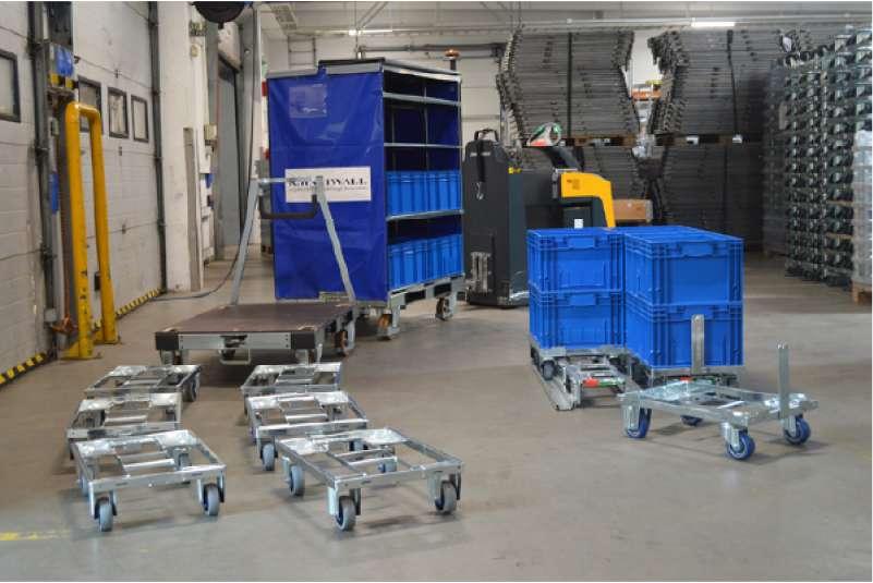 kombinací přepravních vozíků od k.hartwall vznikne kombinovaná tažná souprava