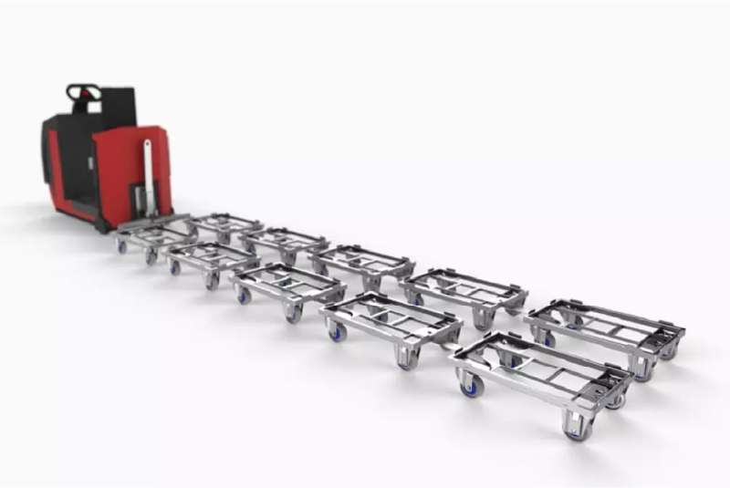 tažná souprava, kombinace přepravních vozíků dolly od k.hartwall