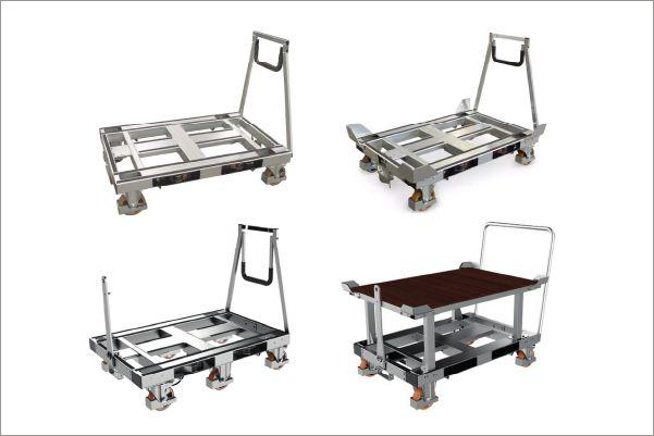 plošinové přepravní vozíky pallet size dolly od k.hartwall