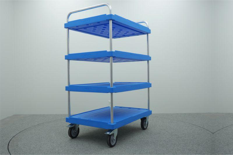 policový přepravní vozík elephant board od k.hartwall, 3 patrový