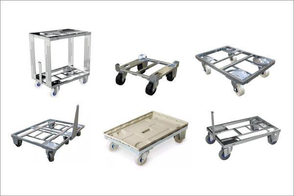 přepravní vozíky dolly od k.hartwall, různé typy