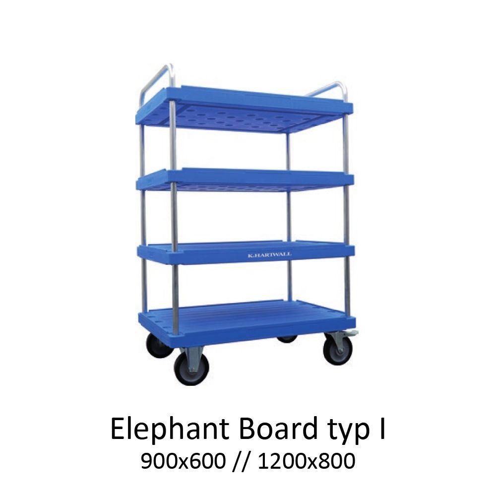 policový přepravní vozík elephant board typ 1 od K.Hartwall