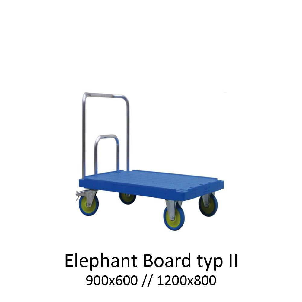 plošinový přepravní vozík elephant board typ 2 od K.Hartwall