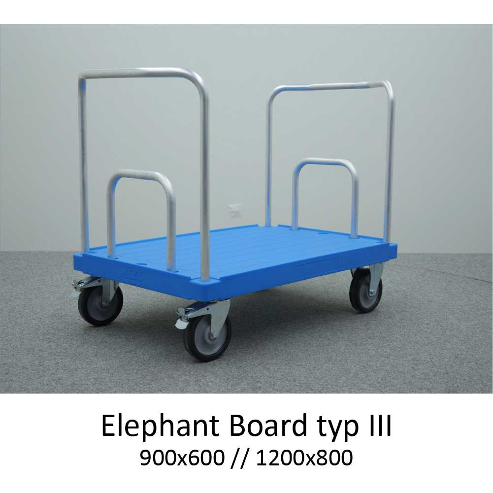 oboustranný plošinový přepravní vozík elephant board typ 3 od K.Hartwall
