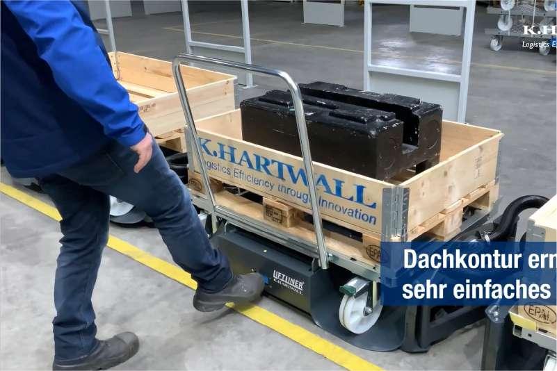 odpojení nákladu ovládané nohou, b-rámy liftliner od k.hartwall