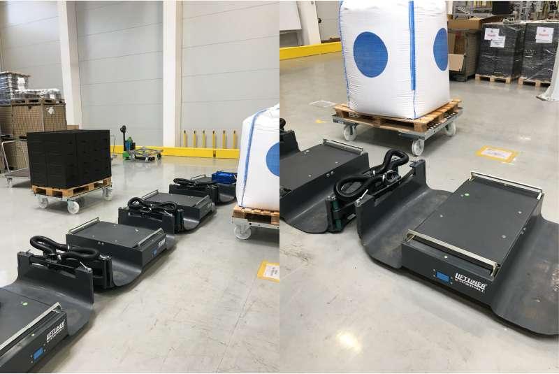 b-rámy liftliner pro manipulace přepravních vozíků ve skladu