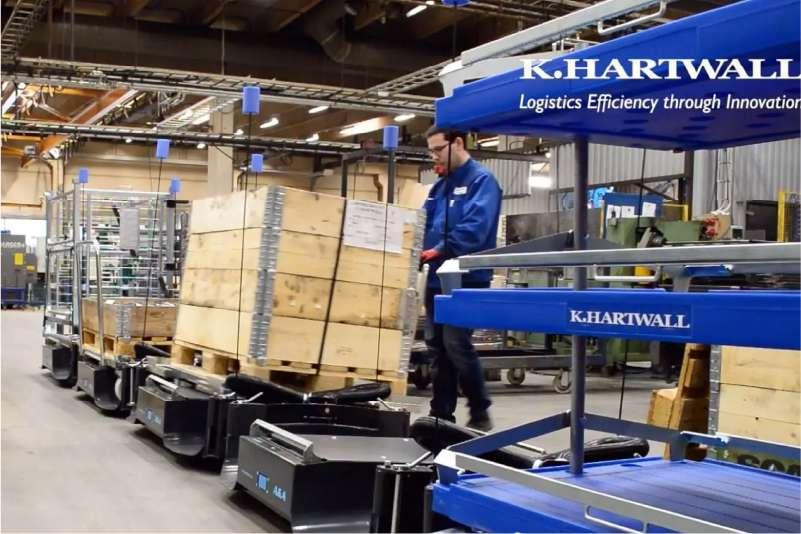 odpojení nákladu ve skladu, b-rámy liftliner od k.hartwall