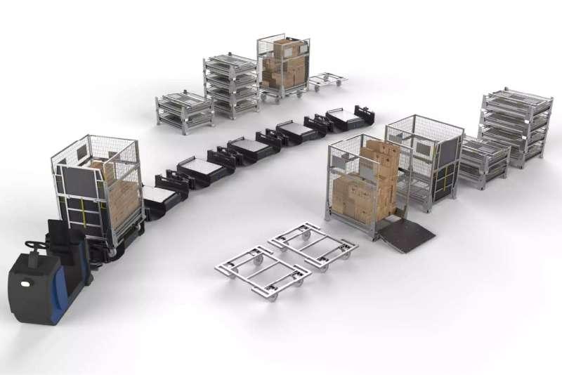 b-rámy liftliner při milkrun zásobování výroby ze skladu