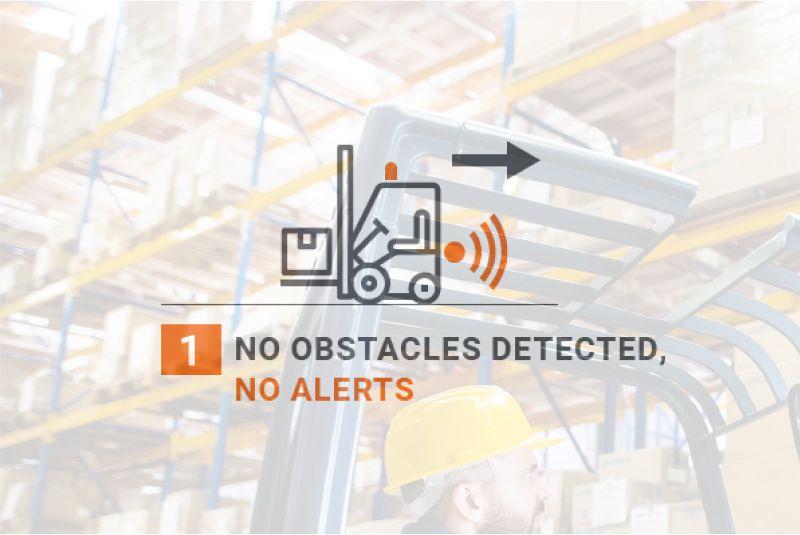 bezpečnostní systém pro vzv safe&alert detekuje překážky a zvukově upozorní řidiče, snižuje riziko srážky a zvyšuje bezpečnost provozu ve skladu