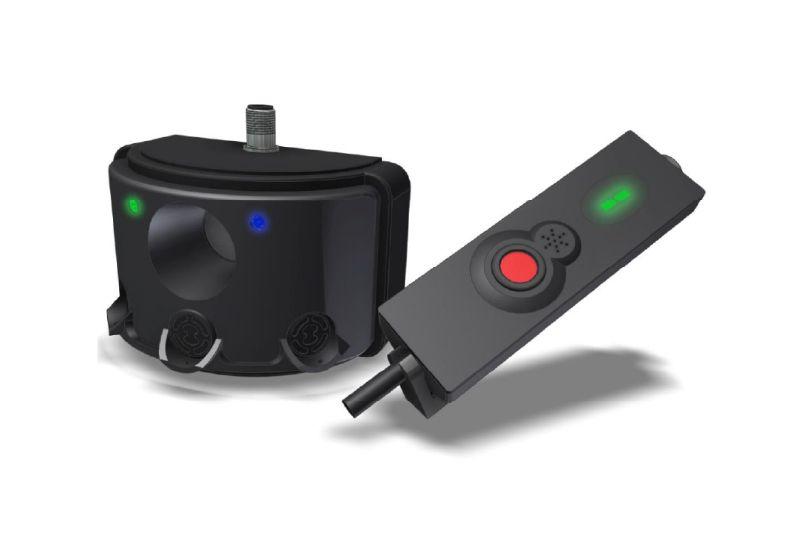 ultrazvukový senzor a ovládací panel bezpečnostního systému pro vzv safe&alert značky sis