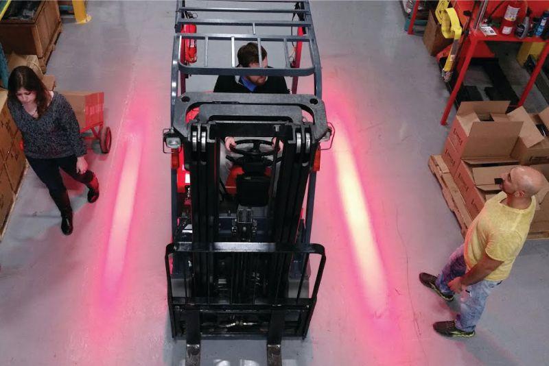 červené led výstražné světlo boční pro vysokozdvižný vozík sis safelight